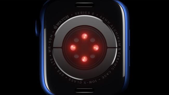 Sensor de oxígeno en sangre en el Apple Watch Series 6