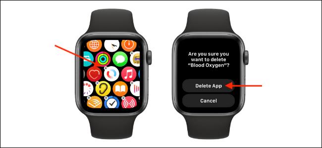 Eliminar la aplicación Blood Oxygen en Apple Watch