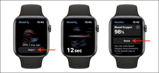 Medir los niveles de oxígeno en sangre en el Apple Watch