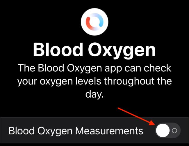 Toque Mediciones de oxígeno en sangre
