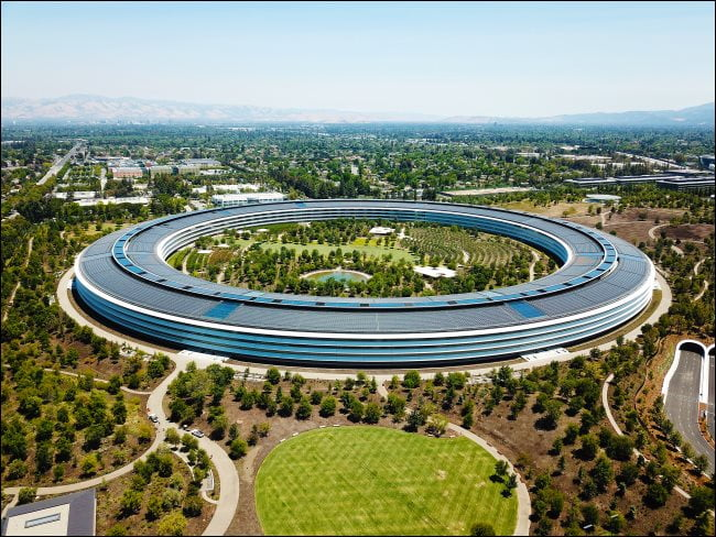 Campus de Apple en Cupertino.